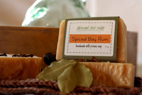 Spiced Bay Rum Goat's Milk Soap Cold-Process Bar