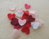 50- Die cut Small Felt Hearts,  Valentines