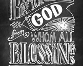 Praise God From Who All Blessings Flow
