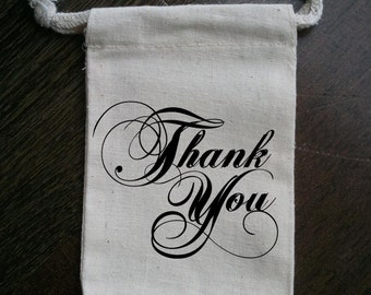 Thank You Muslin Party Favor Bag