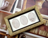 Triple Mini Oval Deluxe Gold Photo Frame Weddings Valentine Day Gifts