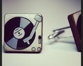 And The Beat Goes Something Like This....Turntable Cufflinks