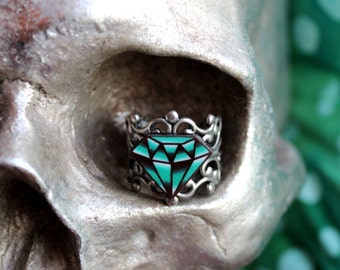 CLEARANCE - Traditional Tattoo Diamond Ring
