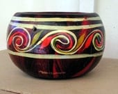 Mexican Art Pottery Planter Signed MEXICO NM Vintage Ceramic New Mexico Clay Pot Southwestern Decor Red Black Primitive Rustic