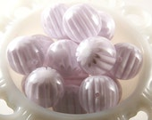 Chunky Resin Beads - 22mm Pure White Blossom Chunky Resin Beads - 6 pc set