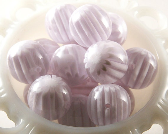 22mm Pure White Blossom Chunky Resin Beads - 6 pc set