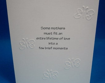 A Few Brief Moments Sympathy Card / Miscarriage / Baby Loss