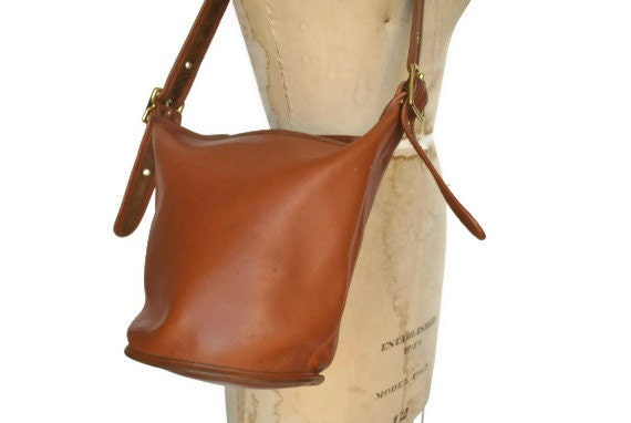 Coach Bucket Bag Brown Leather Purse