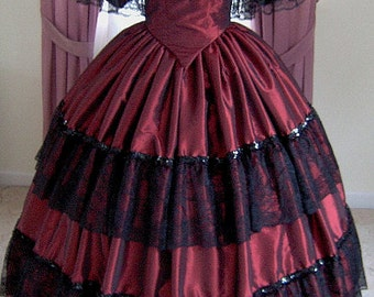 FOR ORDERS ONLY - 1800s Victorian Dress - 1860s Evening Ball Gown - Wedding Bridal Formal Reenactor Dance Costume