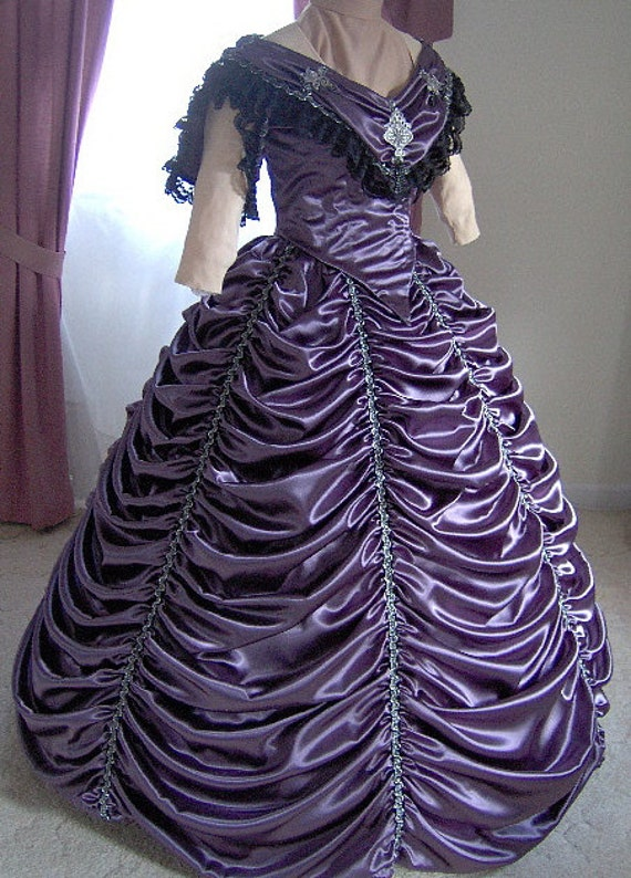 FOR ORDERS ONLY 1800s Victorian Dance Dress Civil War