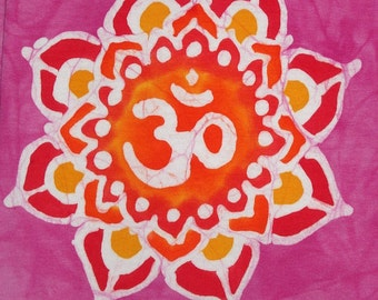 Om Yoga Pants Mandala Lotus Flower READY TO SHIP