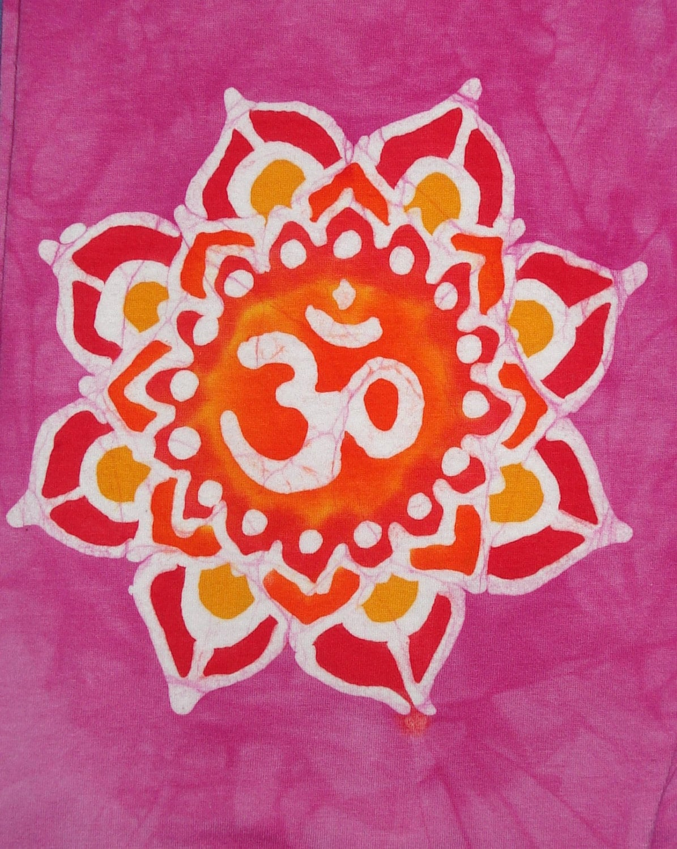 Om Yoga Pants Mandala Lotus Flower Ready To Ship Sale