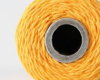 240 Yards (Full Spool) of Bakers Twine . Solid Marigold (yellow)