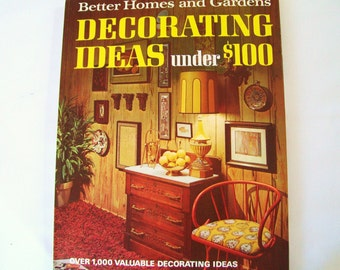 1960s 1970s Decorating Vintage Interior Design Book Ideas Under 100 Dollars DIY Decor BHG