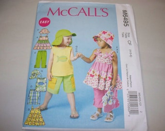 New McCall's Childrens' Clothing Pattern, M6495 (CF) 4-5-6 (Free US Shipping)