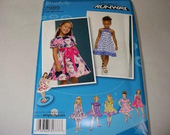 New Simplicity Girl's Dress  Pattern, 2989 BB (4,5,6,7,8) (Free US Shipping)