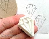 diamond stamp. gemstsone pattern stamp. geometric hand carved rubber stamp. diy wedding bridal shower birthday. scrapbooking. holiday crafts