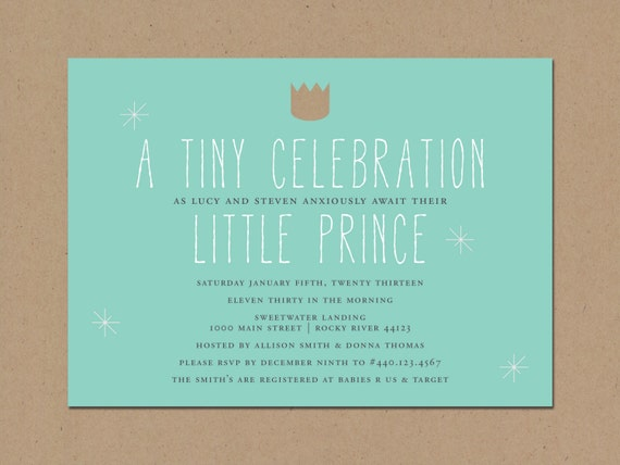 little prince baby shower invitation by tingstationery on etsy