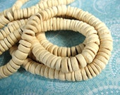100 Natural color Coco wood Beads - Donuts Rondelle Disk Beads 8mm (PC214B)