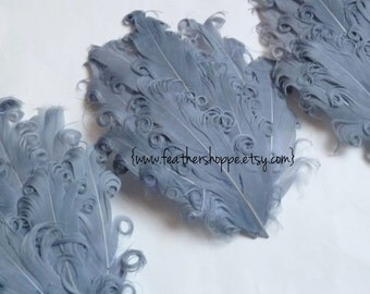 CLEARANCE - Imperfect Grey Nagorie Curled Goose Feather Pads - Curlz Line