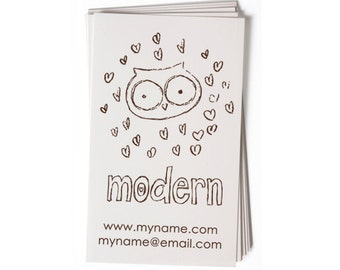 Business Card Stamp   Custom Rubber Stamp   Custom Stamp   Personalized Stamp   Owl Stamp   Hand drawn Stamp   BC40