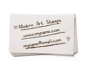 Business Card Stamp   Custom Rubber Stamp   Custom Stamp   Personalized Stamp   Handwriting Text Stamp   BC29