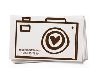 Business Card Stamp   Custom Rubber Stamp   Custom Stamp   Personalized Stamp   Photography Stamp   Photographer Stamp   Camera Stamp   BC54