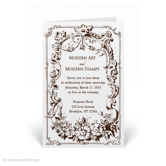 custom wedding stamp wedding invitation stamp custom rubber stamp