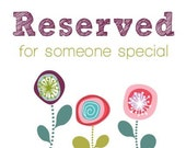 Reserved Listing for CarolynTharp