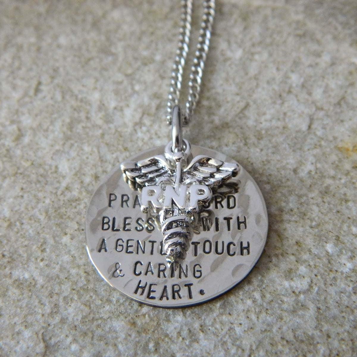 nurses prayer lpn rnp charm handsted necklace