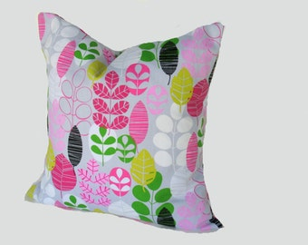 Gray Pillow Cover, 18x18 Floral Modern Pillow