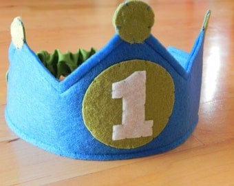 Green Circle Your Age Birthday Crown