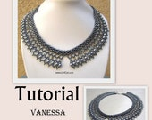 Vanessa Lace SuperDuo Twin necklace PDF Tutorial