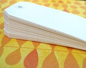 """FOR EMILEE - White Shipping Tags (QTY 100) - clearance - Stamp on, write on, glue on - 4 3/4 x 2 3/8"""""""