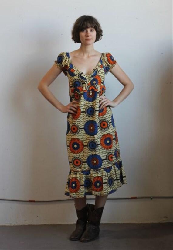 Vintage 70's ETHNIC Dress Size M