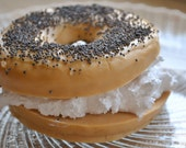 Bagel with Cream Cheese Soap - Food Soap - OUR ORIGINAL DESIGN!