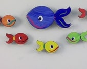 Magnets - Fish - Super Strong Hand Painted Steel - Medium -