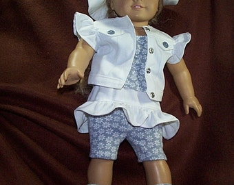 Daisies Six piece spring and summer outfit for American girl