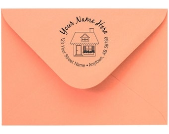 Personalized Custom Made Return Address stamp and Name Rubber Stamps R104
