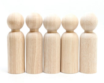 FAIR TRADE // 5 Dad/Groom Wooden Dolls // Wooden Peg Dolls Wedding Cake Toppers // Little Wooden People Craft Supplies