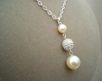 NEW MARKDOWN: Cottonwood -- Swarovski Pearl & Pave Necklace