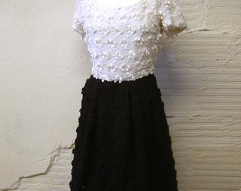 Scaasi Dress Vintage Formal Nordstrom Couture Black and White
