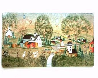 Willow Creek Village Handpainted on Wood Plaque 342