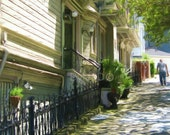 House on Buena Vista --- San Francisco--- Digital photo painting image--- instant download --- by DylanD