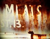 Meats - Color Silver Art Print - Grunge & Textures - Fine Art Photography - Wall Art