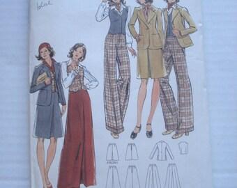 SALE*** Butterick Sewing Pattern 3352 Misses Jacket Vest Skirt Pants Size 10