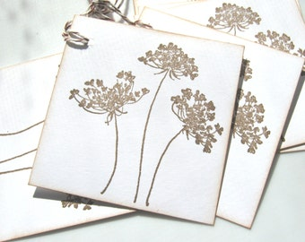 Queen Anne's Lace Gift Tags, Wedding Wish Tags