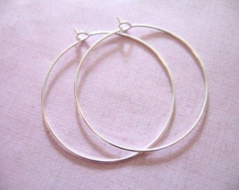 Shop Sale..  20 pairs, 1.5 inch in HOOPS Earrings Earwires, Add a Dangle Hoops, Silver or Gold Plated Brass, everyday hoops ber ihm.p