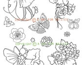 Fairy Play Clear Polymer Stamp Collection