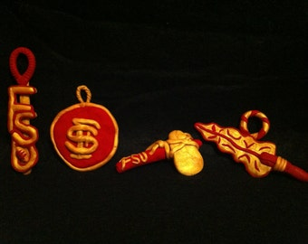 Sports team Christmas ornaments (set of 4)